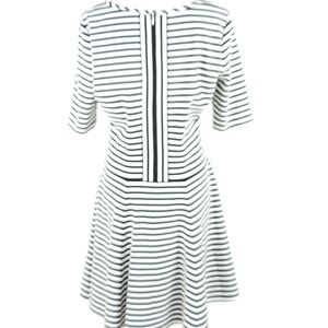 Eliza J 14 Fit and Flare Scoop Neck Stripe Dress